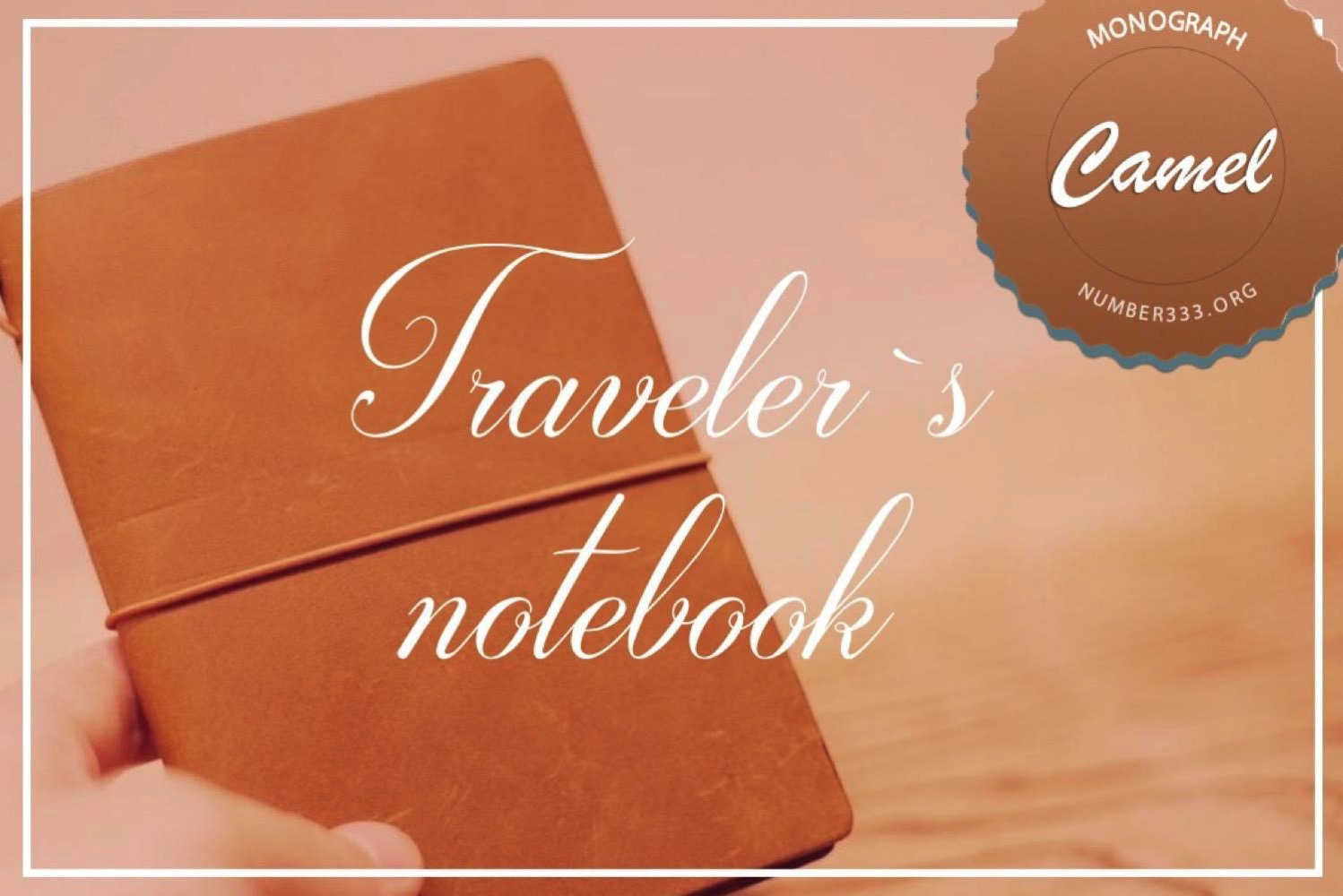 Travelers notebook camel1