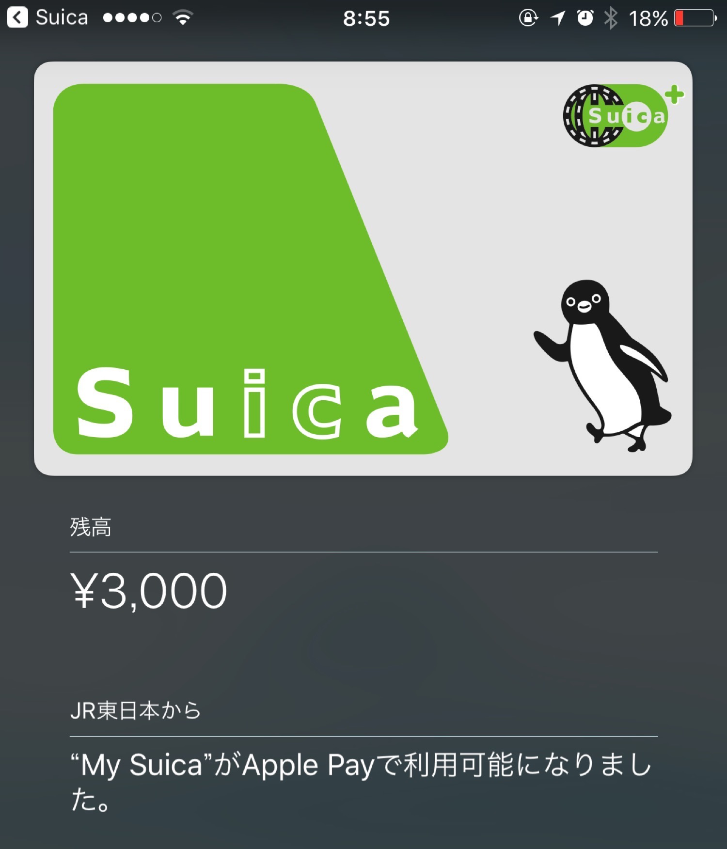 IPhone7 Suica Apple Pay 7