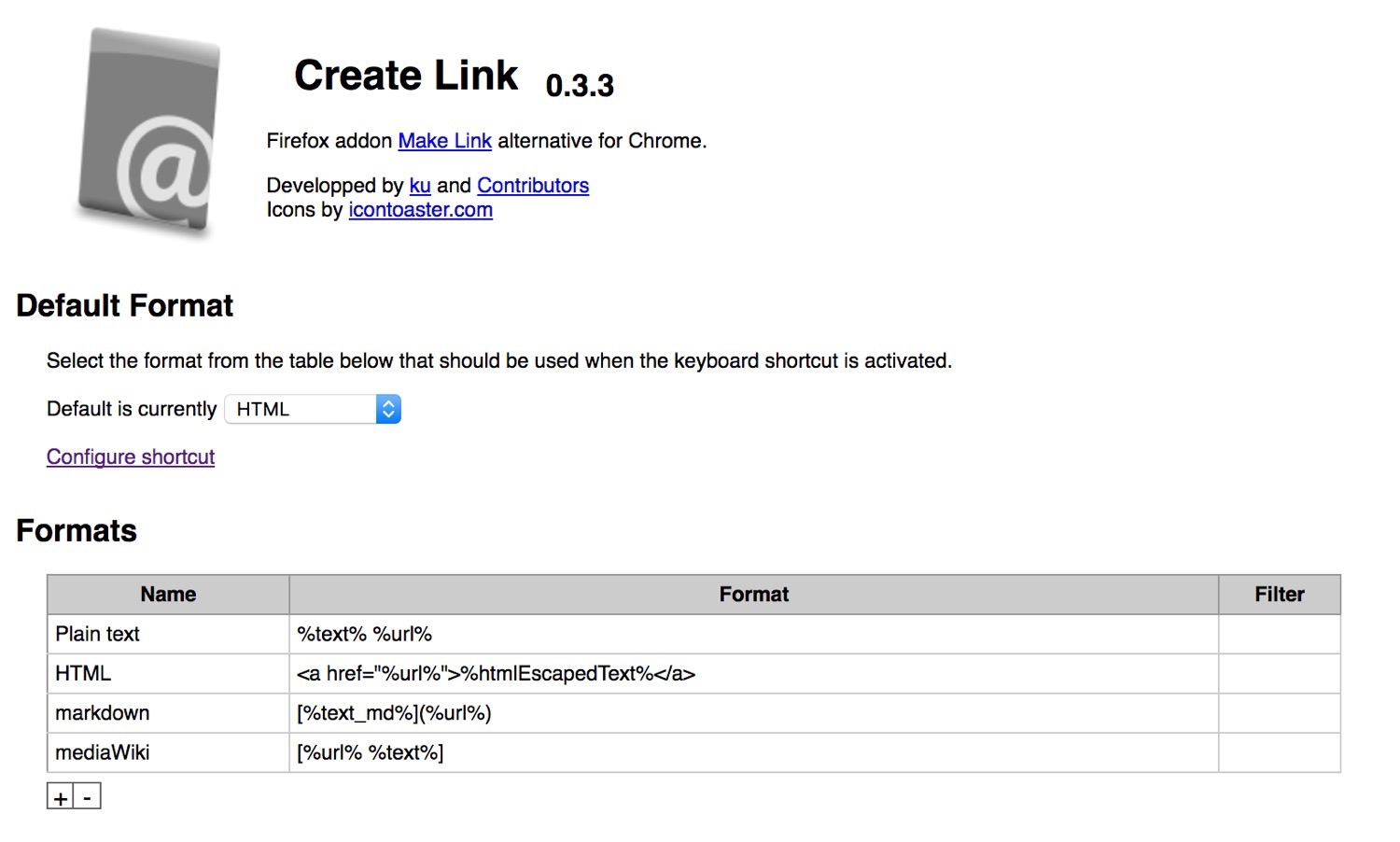 Create link chrome 2