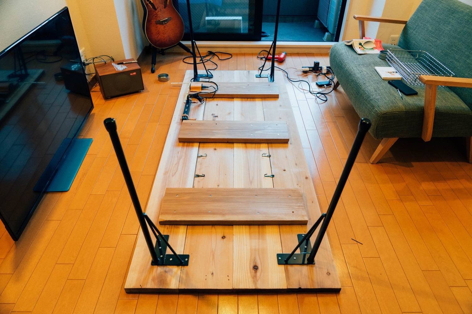 Diy big wood table 32