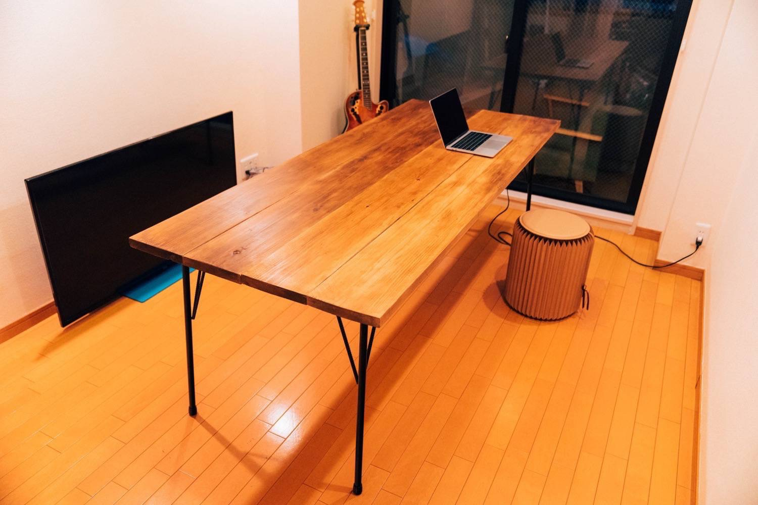 Diy big wood table 39