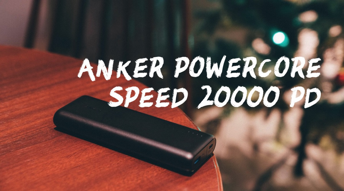 Anker PowerCore Speed 20000 PD top