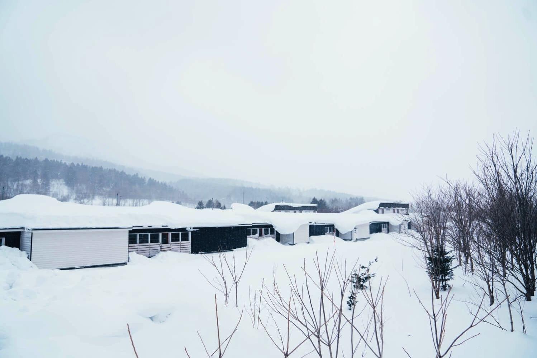 北海道下川町の集合住宅外観